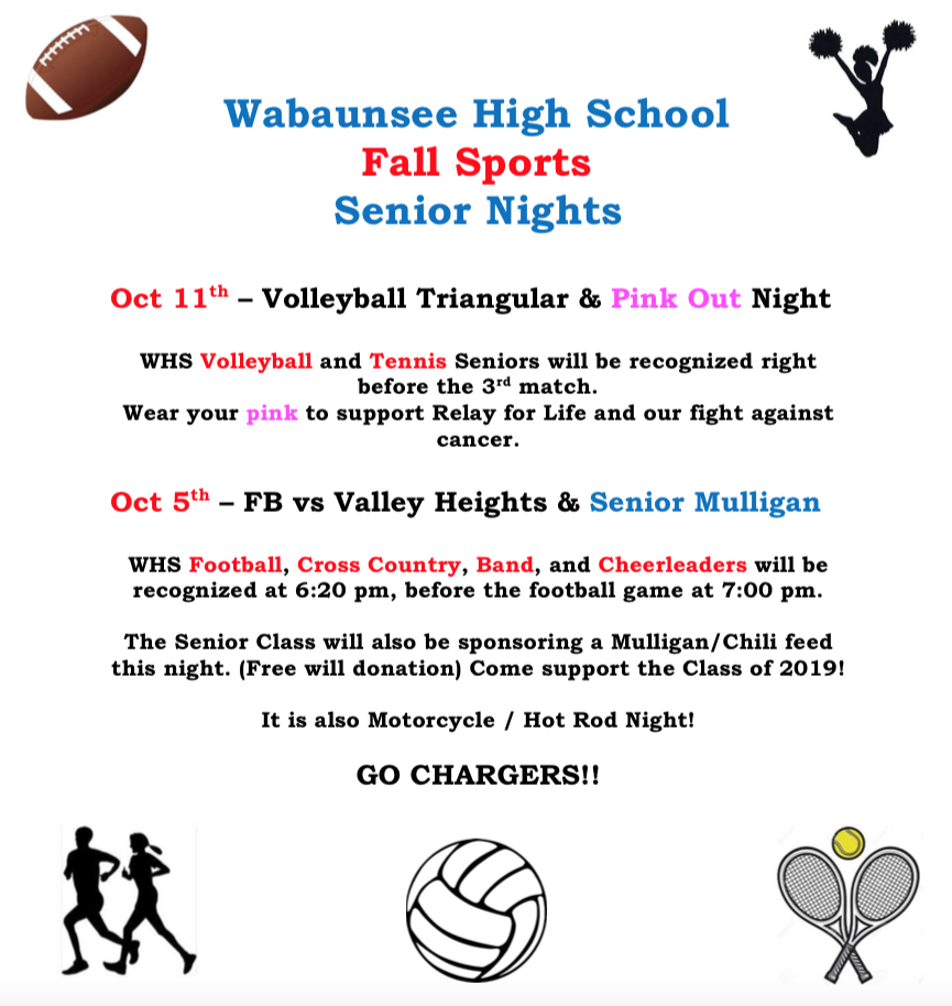 Fall Sports Senior Nights
