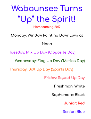 2019 Homecoming Info