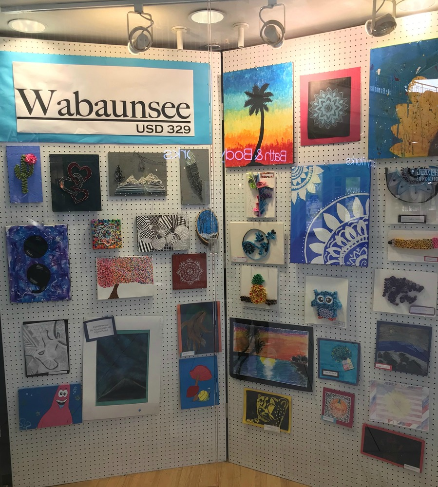 Junior High art on display at Westridge Mall