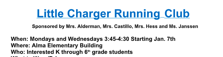 Little Charger Running Club