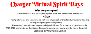 Charger Virtual Spirit Days April 14th - 24th