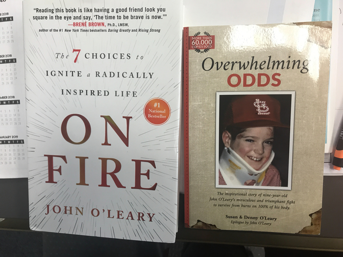 John O'Leary donated books to WHS library!