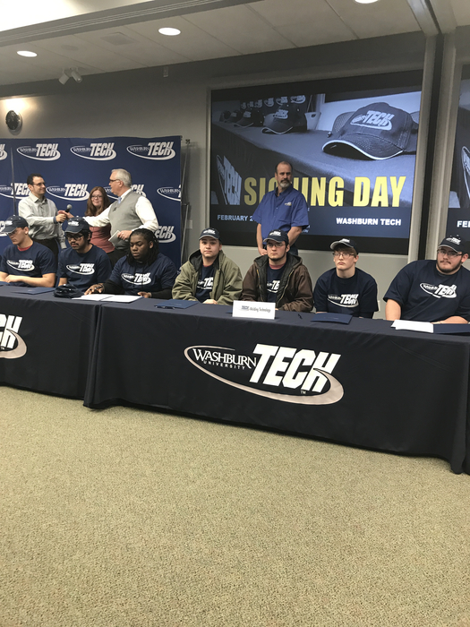 Juniors signing at Washburn Tech: Tyler Clark and Frank Gilbert!