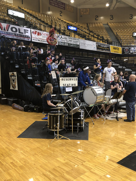 Pep band at State Basketball