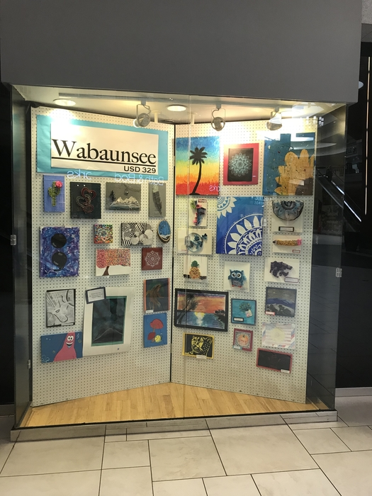 Art at the Westridge Mall from Alicia Stott's classes.
