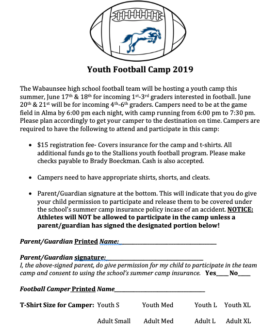 Youth FB Info