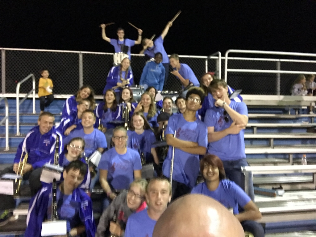 Band selfie. Go Chargers!