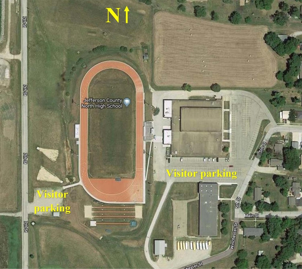 Jefferson County North Football Field Parking Map