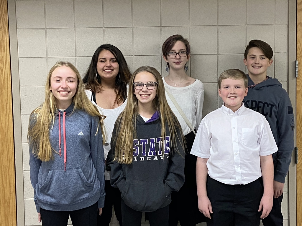 Wabaunsee junior high students following the KMEA north central district mid-level honor choir/band concert.