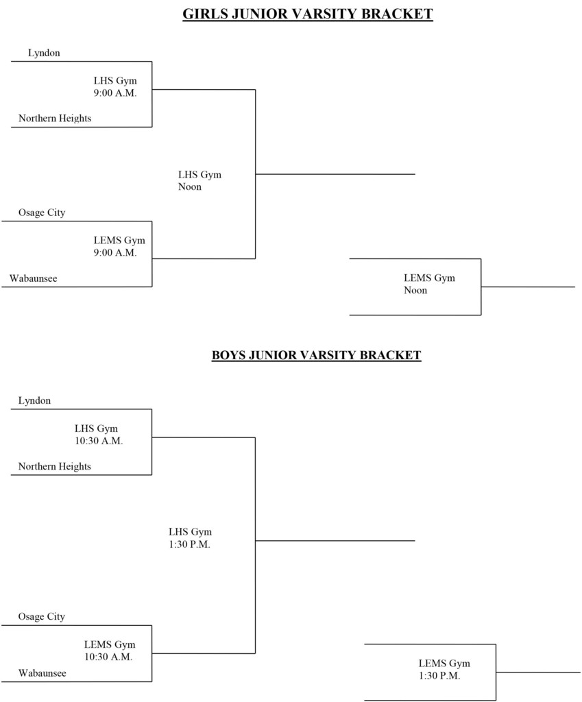 Lyndon JV Basketball Tournament Bracket