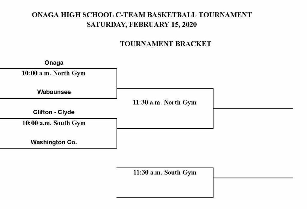 Onaga C Team Boys Basketball Bracket