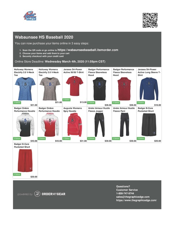Charger Baseball/Softball Apparel Items